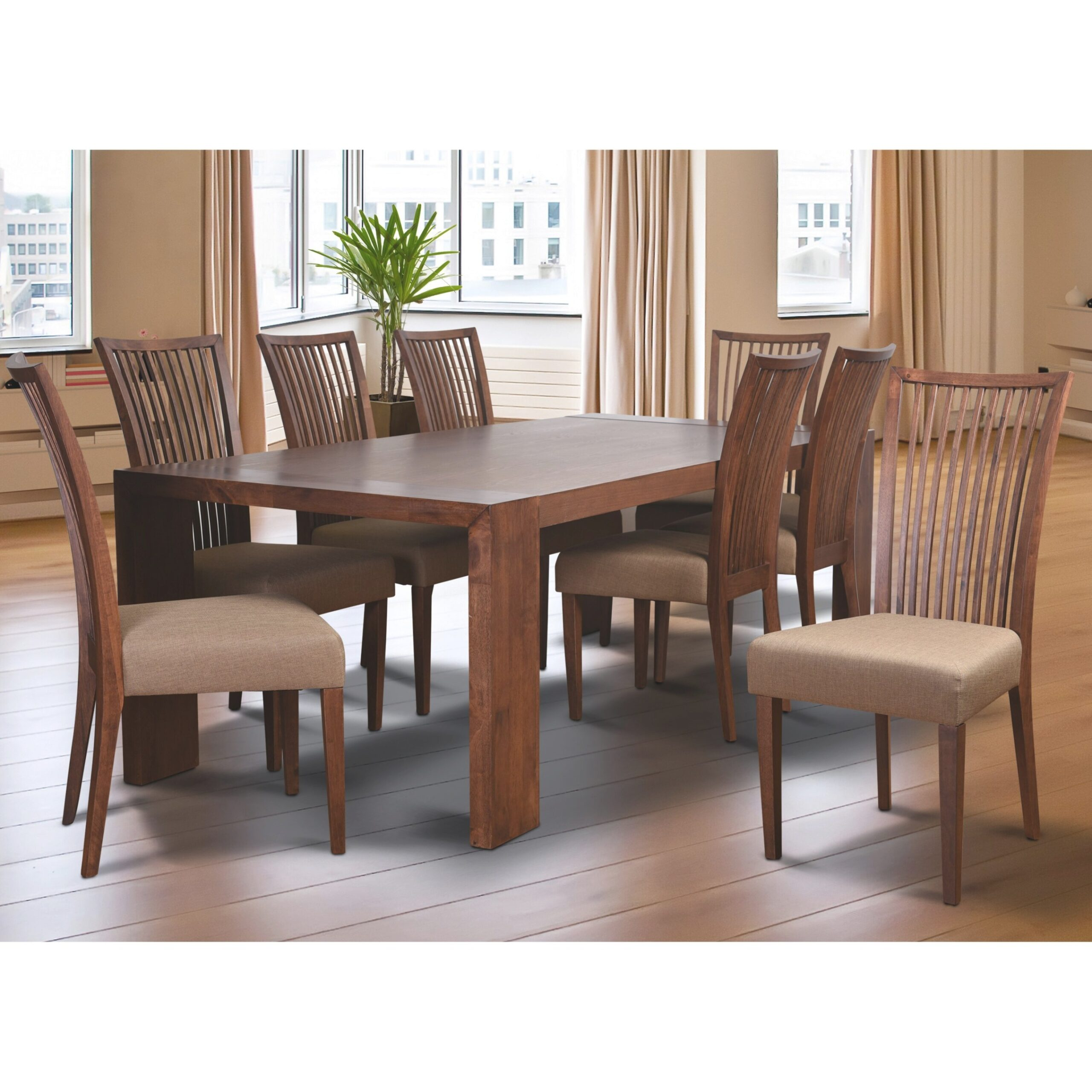 Latitude Run Bohostice 9 Piece Dining Set & Reviews pertaining to 9 Piece Dining Set