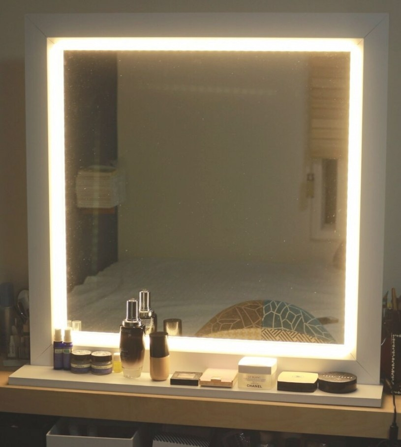 Led Lighting Mirror For Make Up Or Starlet Lighted Vanity intended for Led Lighted Mirrors Bathrooms