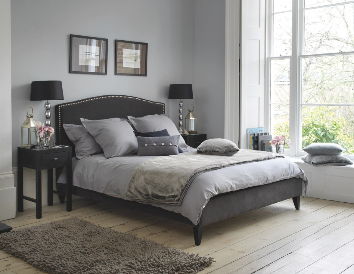 Light Blue Bedroom Design, Black And Gray Bedroom. Bedroom inside Blue Grey And White Bedroom