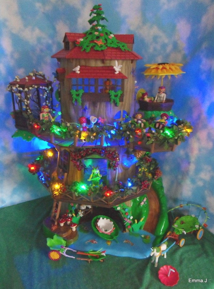 Light Up Fairy Tree House | Emma.j'S Playmobil inside Light Up My Home