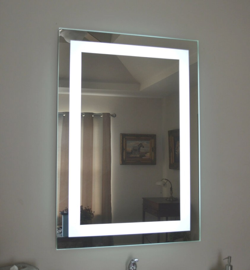 Lighted Bathroom Vanity Make Up Mirror, Led Lighted, Wall with Led Lighted Mirrors Bathrooms