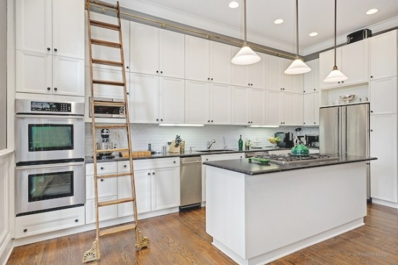 Lincoln Park Home With Library Ladder In Kitchen For Sale with regard to Library Ladder In Kitchen