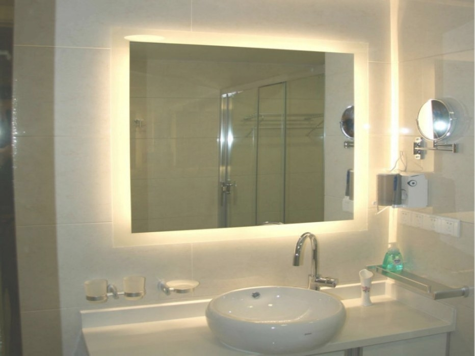 Lit Bathroom Mirror, Lighted Bathroom Mirrors Backlit Led regarding Led Lighted Mirrors Bathrooms