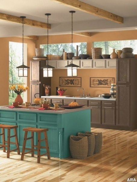 Loving The Fact That It Is A Kitchen And The Color pertaining to Teal And White Kitchen