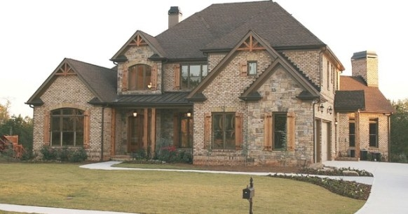 Luxury European Style Homes - Traditional - Exterior intended for Brick And Stone Homes