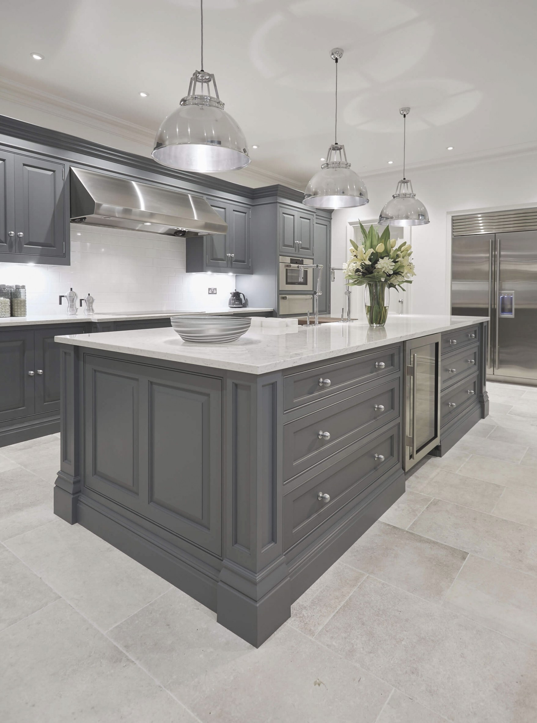 Luxury Grey Kitchen | Tom Howley pertaining to Grey And White Kitchen
