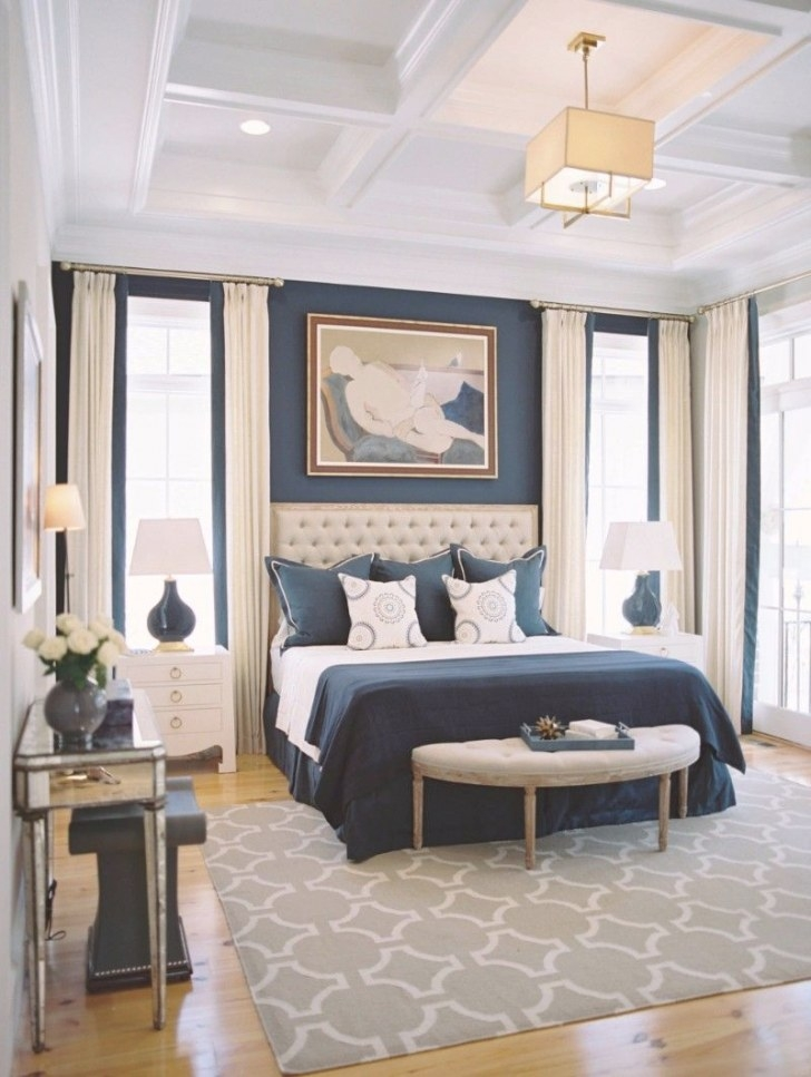 Luxury-Navy-Blue-Design-Ideas-Master-Bedroom-Decor-Modern with regard to Ideas For Master Bedrooms