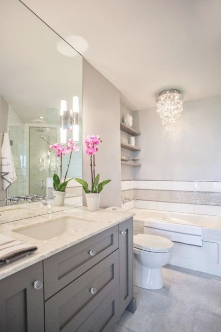 Madison Taylor Design - Bathrooms - White And Grey Bath pertaining to White And Grey Bathroom