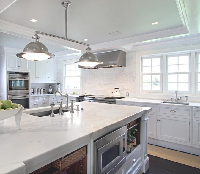 Main Sink In Kitchen Island - Transitional - Kitchen with Kitchen Island With Sink