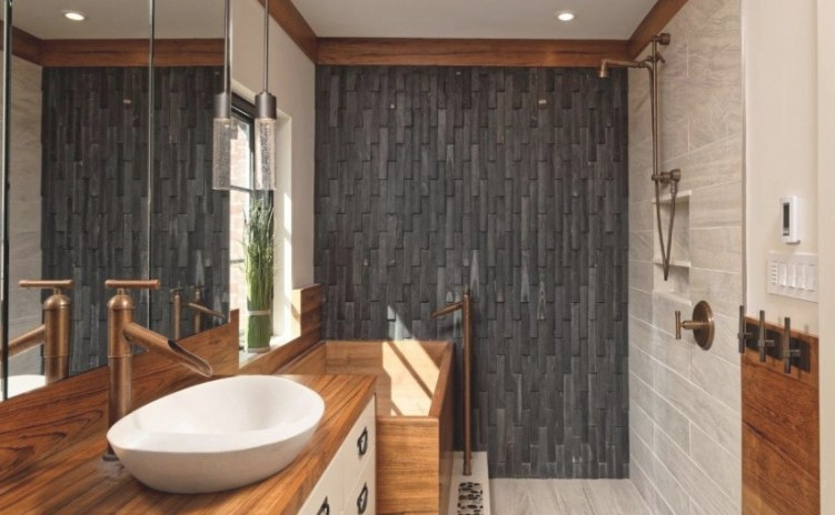 Making A Statement With Shower Accent Walls intended for Accent Walls In Bathrooms
