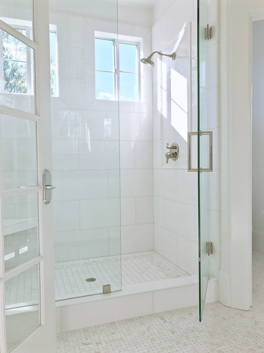 Master Bath Before And After | White Bathroom Tiles pertaining to 12X24 Tile In Small Bathroom
