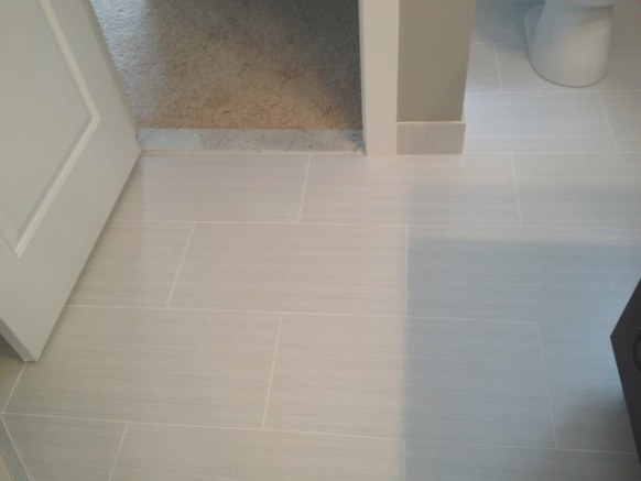 Master Bathroom 12X24 Zera - Contemporary - Detroit - pertaining to 12X24 Tile In Small Bathroom