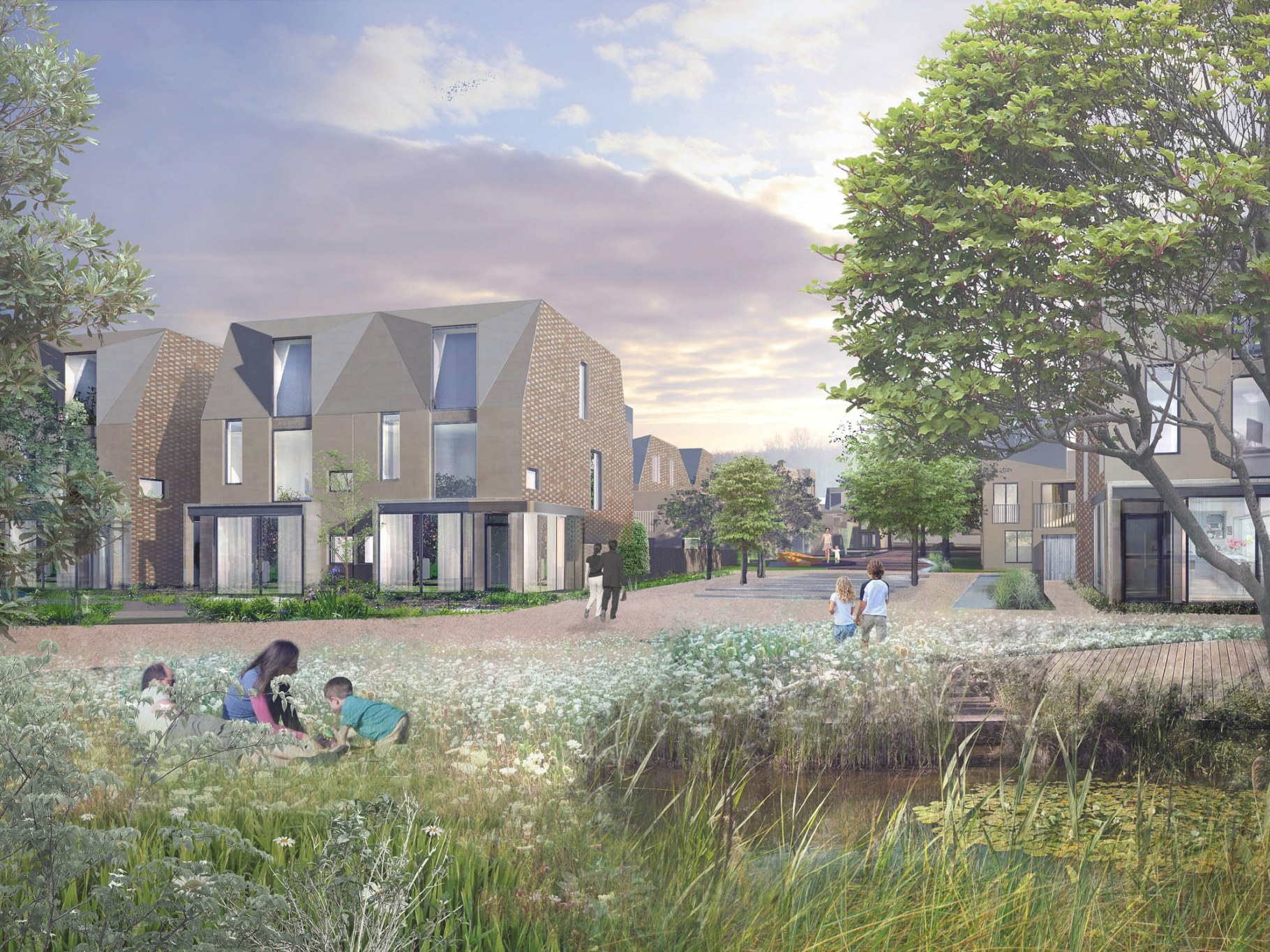 Meadow Housing - Alison Brooks Architects with Brooks Village Green Homes