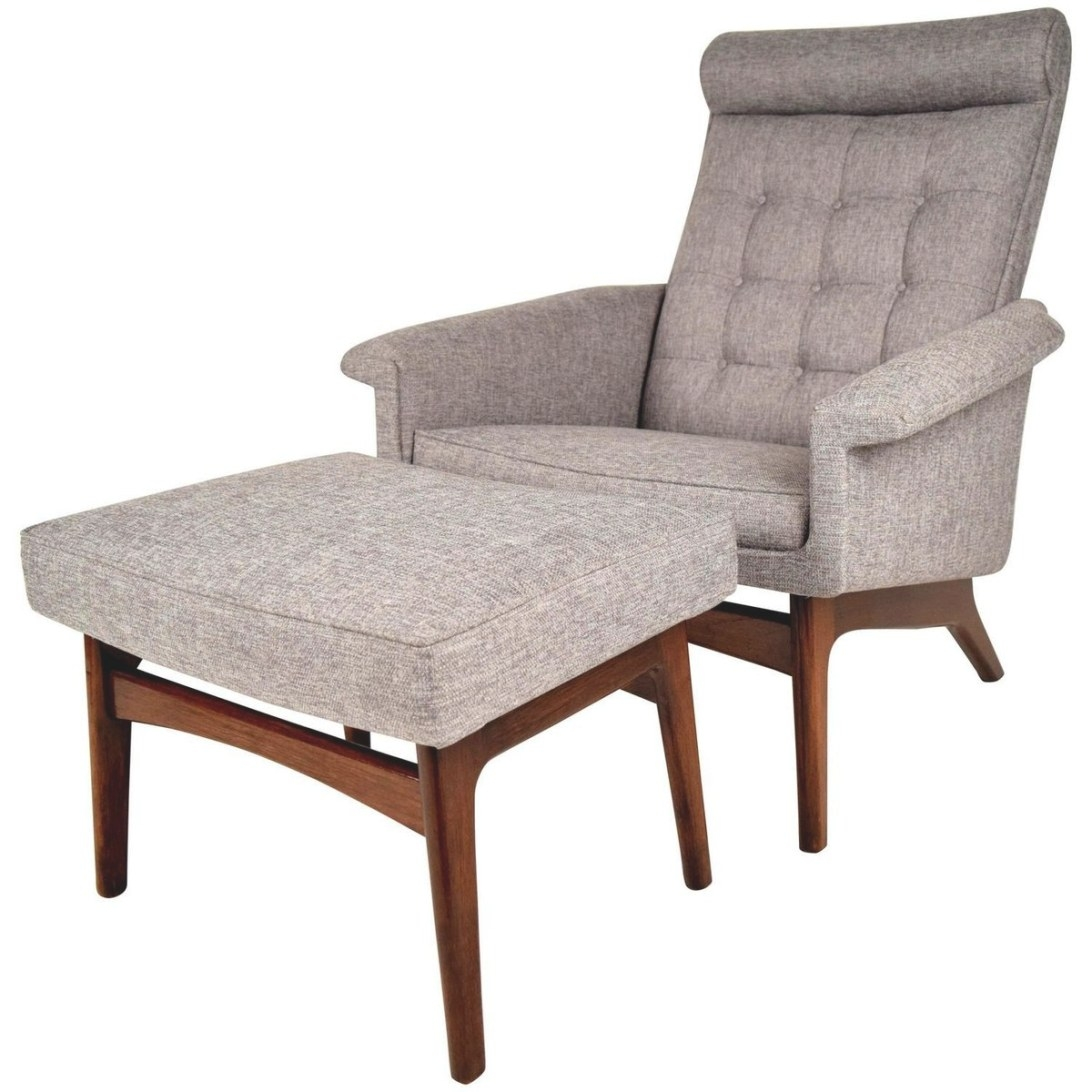 Mid-Century Danish Lounge Chair & Ottomanpoul Jensen pertaining to Mid Century Lounge Chair