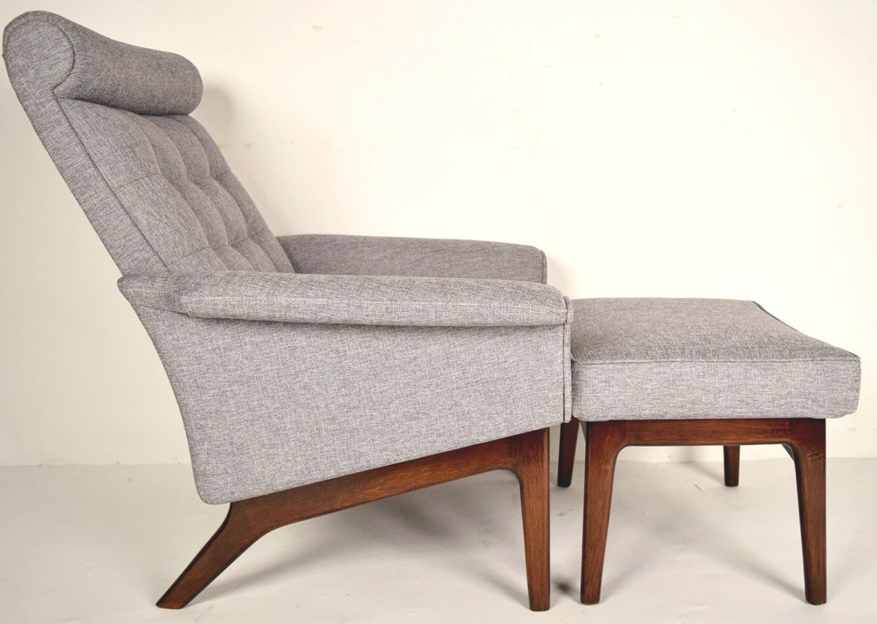 Mid-Century Danish Lounge Chair & Ottomanpoul Jensen regarding Mid Century Lounge Chair