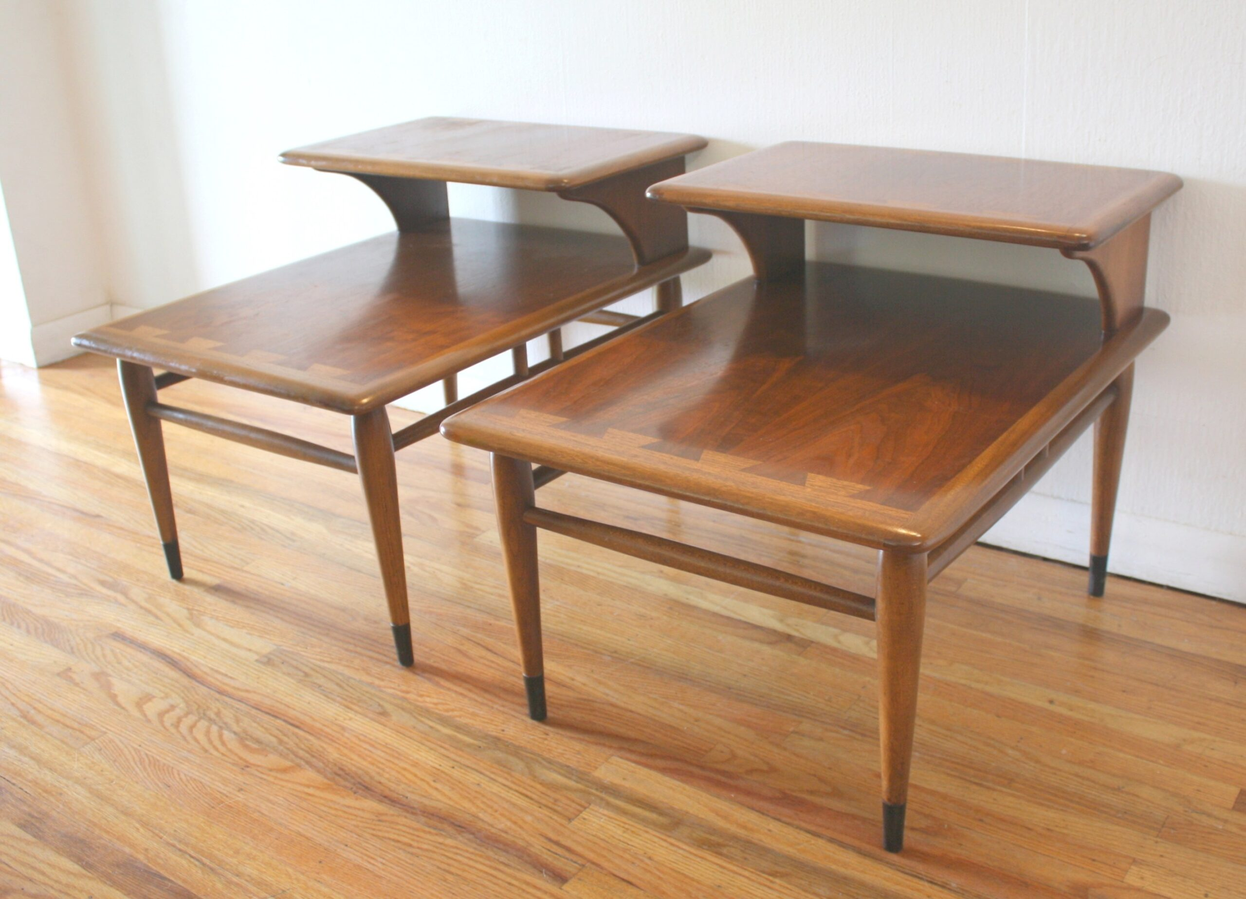 Mid Century Modern 2 Tiered Side End Tables From The Lane regarding Mid Century Modern Side Table