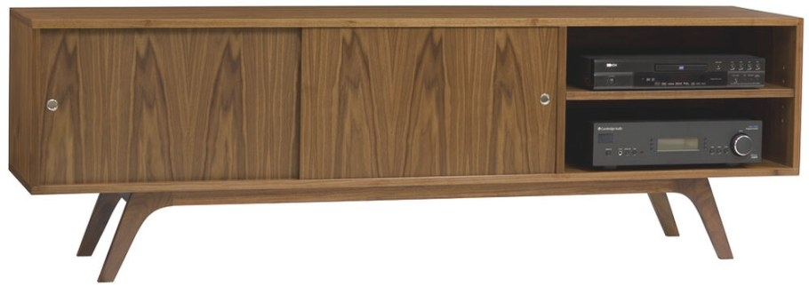 Mid Century Modern Credenza Entertainment Center Console throughout Mid Century Modern Tv Stand