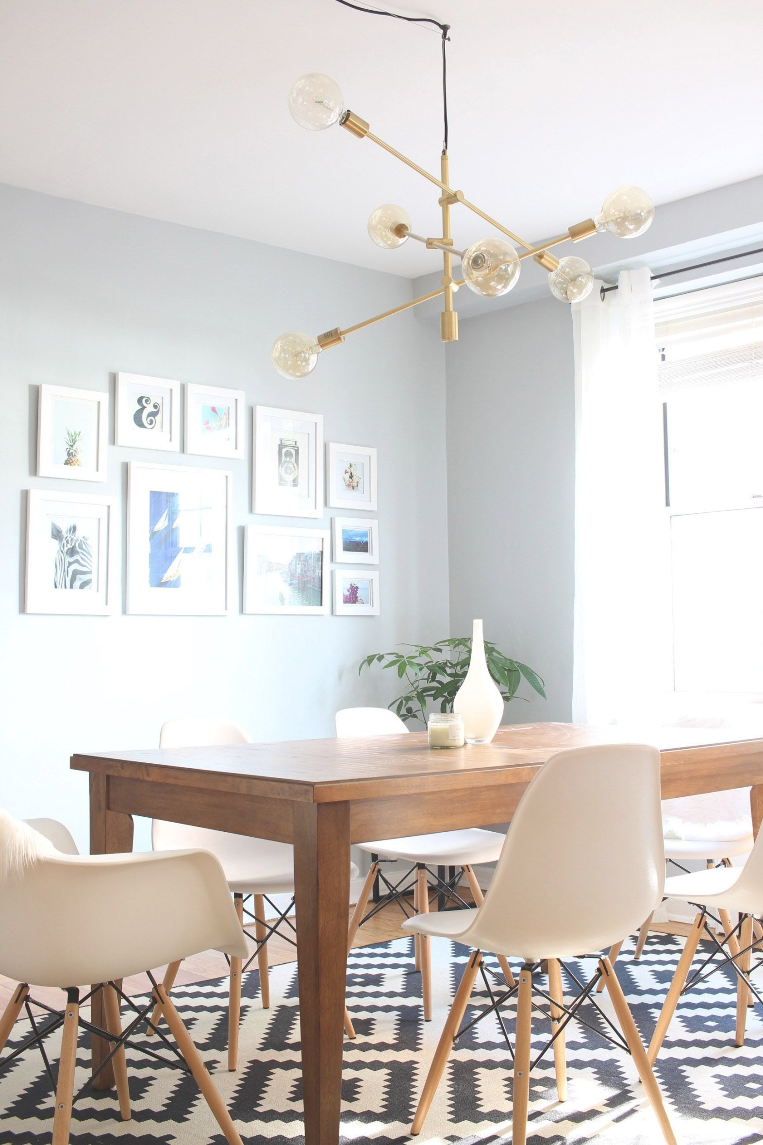 Mid-Century Modern Dining Room & My New Light Fixture with Mid Century Modern Dining Room