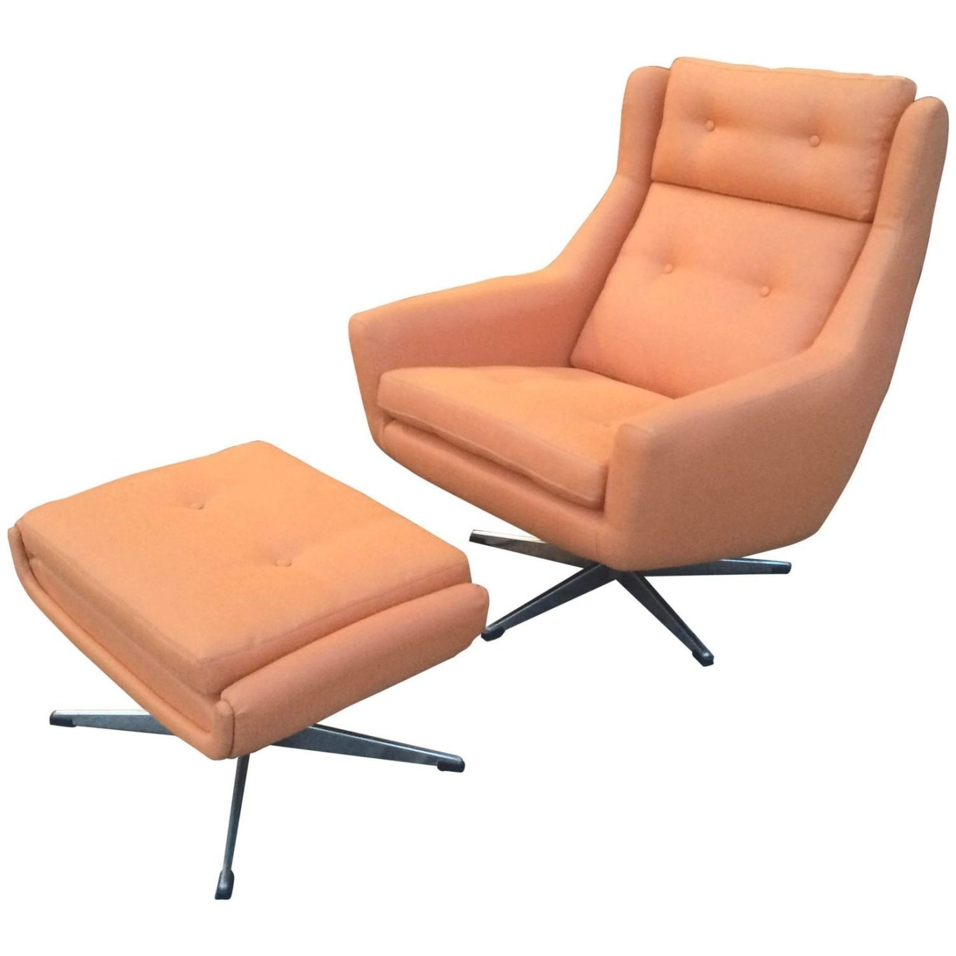 Mid-Century Modern Lounge Chair And Ottoman Attributed To for Mid Century Lounge Chair