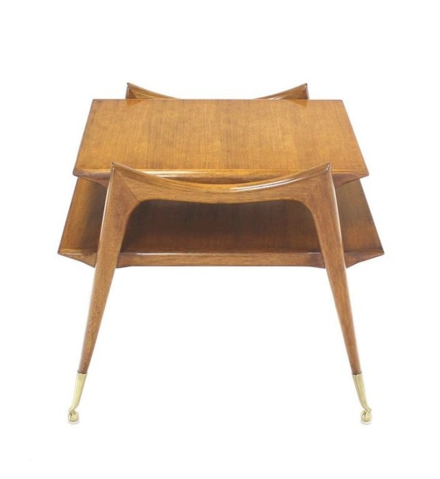 Mid-Century Modern Sculptural Legs Side Table For Sale At regarding Mid Century Modern Side Table