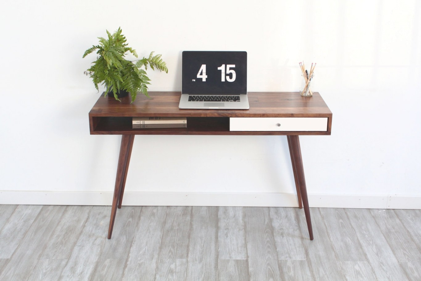 Mid Century Modern Sofa Table Console Table Laptop Desk with regard to Mid Century Modern Console Table