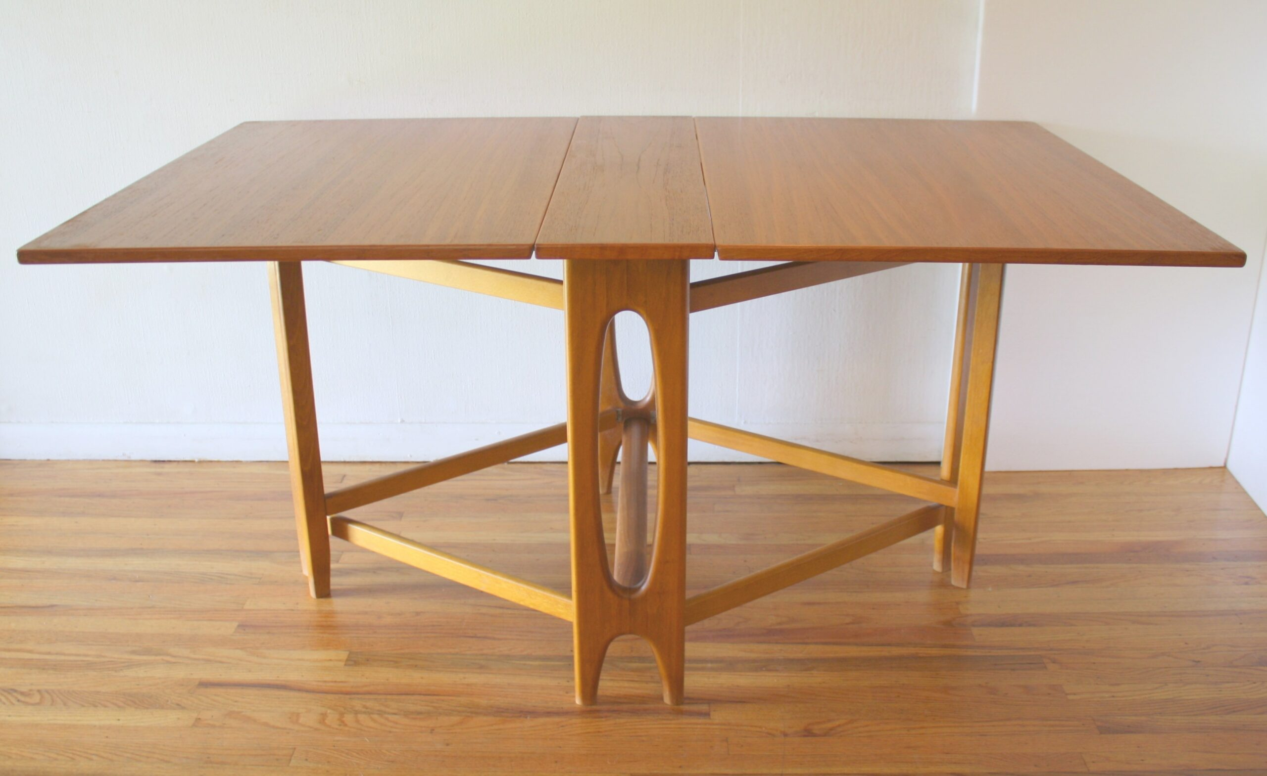 Mid Century Modern Teak Gateleg Dining Tables | Picked Vintage regarding Mid Century Dining Table