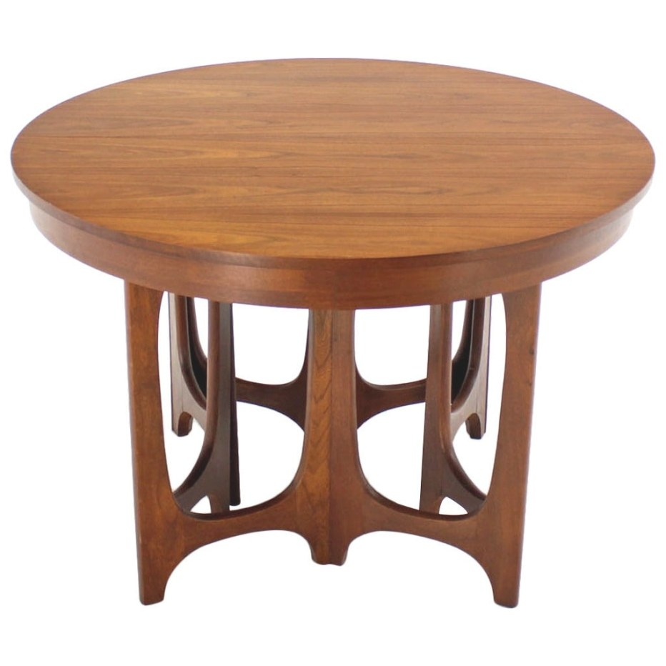 Mid-Century Modern Walnut Round Dining Table At 1Stdibs pertaining to Mid Century Dining Table