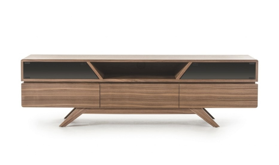 Mid Century Modern Walnut Wood Tv Media Stand | Modern throughout Mid Century Modern Tv Stand