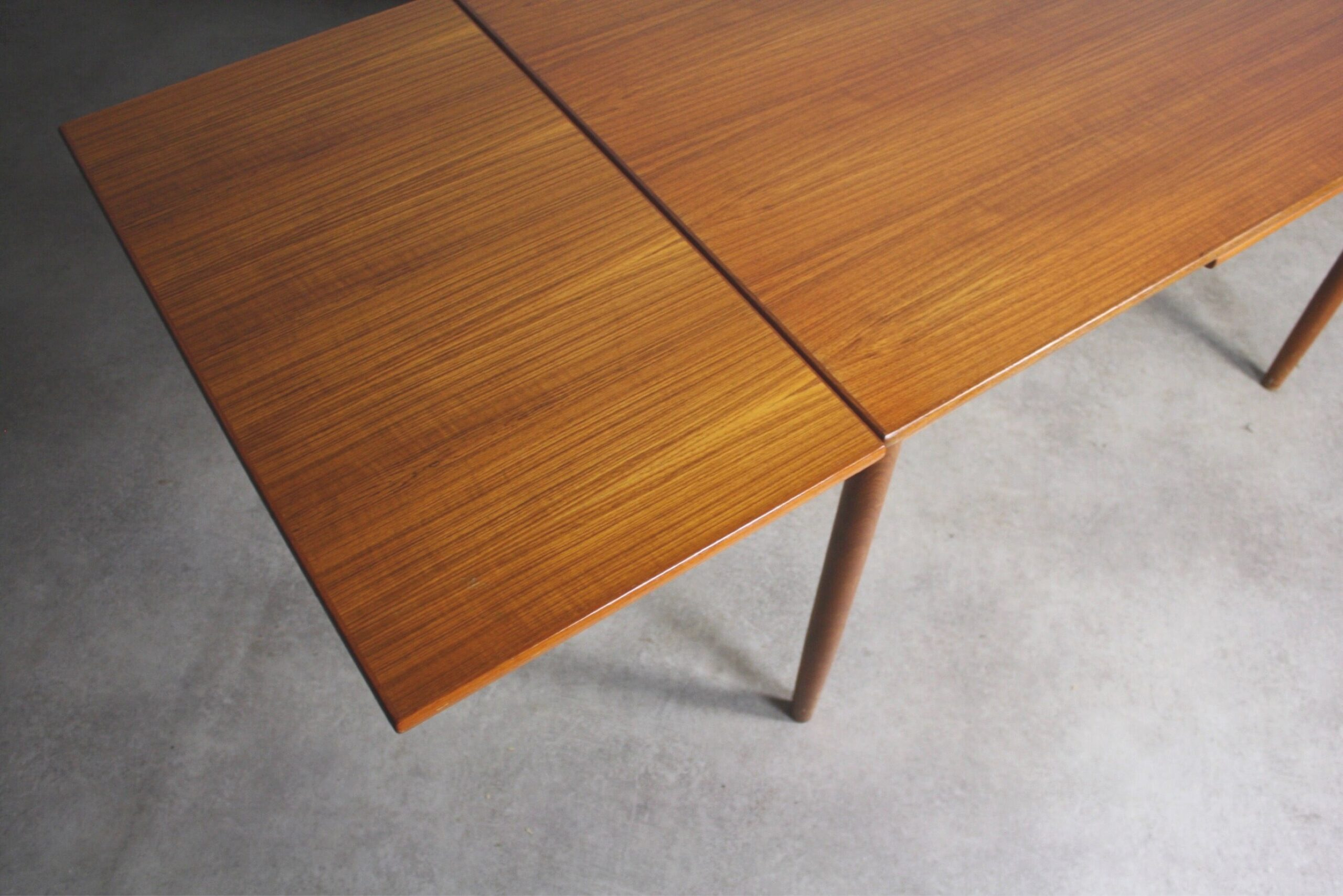 Mid Century Teak Extension Dining Table — Abt Modern with Mid Century Dining Table