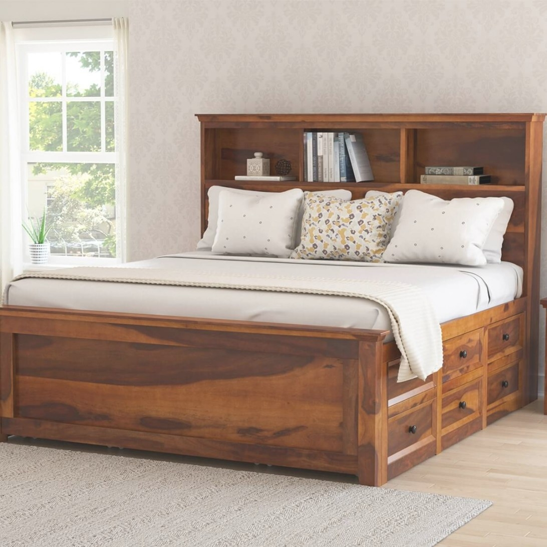 Mission Modern Solid Wood King Size Platform Storage Bed with regard to King Size Platform Bed
