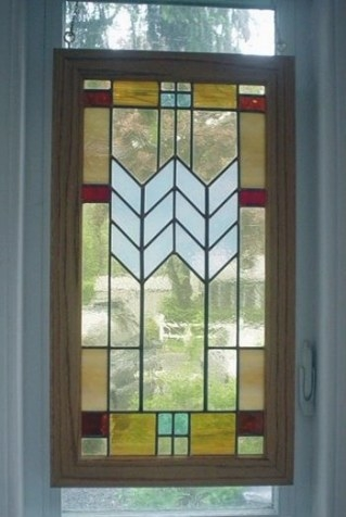 Mission Style Leaded Glass Panelglassgraphicsstudio On intended for Craftsman Stained Glass Panel Collection