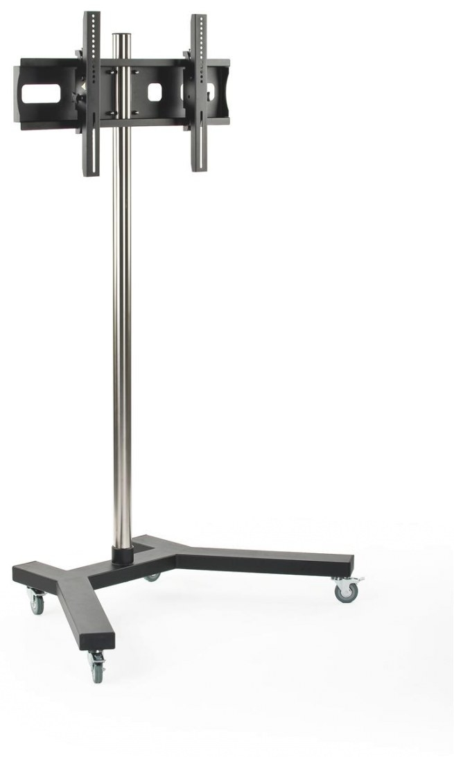 Mobile Monitor Stand - 6' Tall With (4) Locking Casters with Tv Stand With Wheels