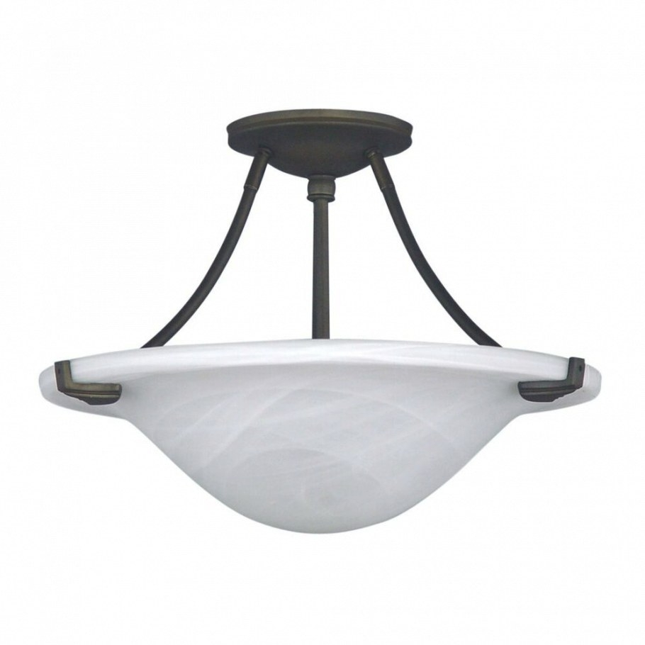 "Modern 15"" Semi Flush Mount Ceiling Lighting Fixture Oil in Flush Mount Ceiling Lights"