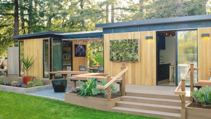 Modern Cottage Prefab - Sunset Magazine inside Prefab Guest House With Bathroom And Kitchen