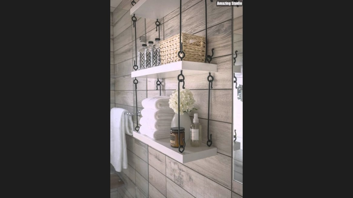 Modern Diy Hanging Bathroom Shelves - Youtube intended for Picture Of A Bathroom