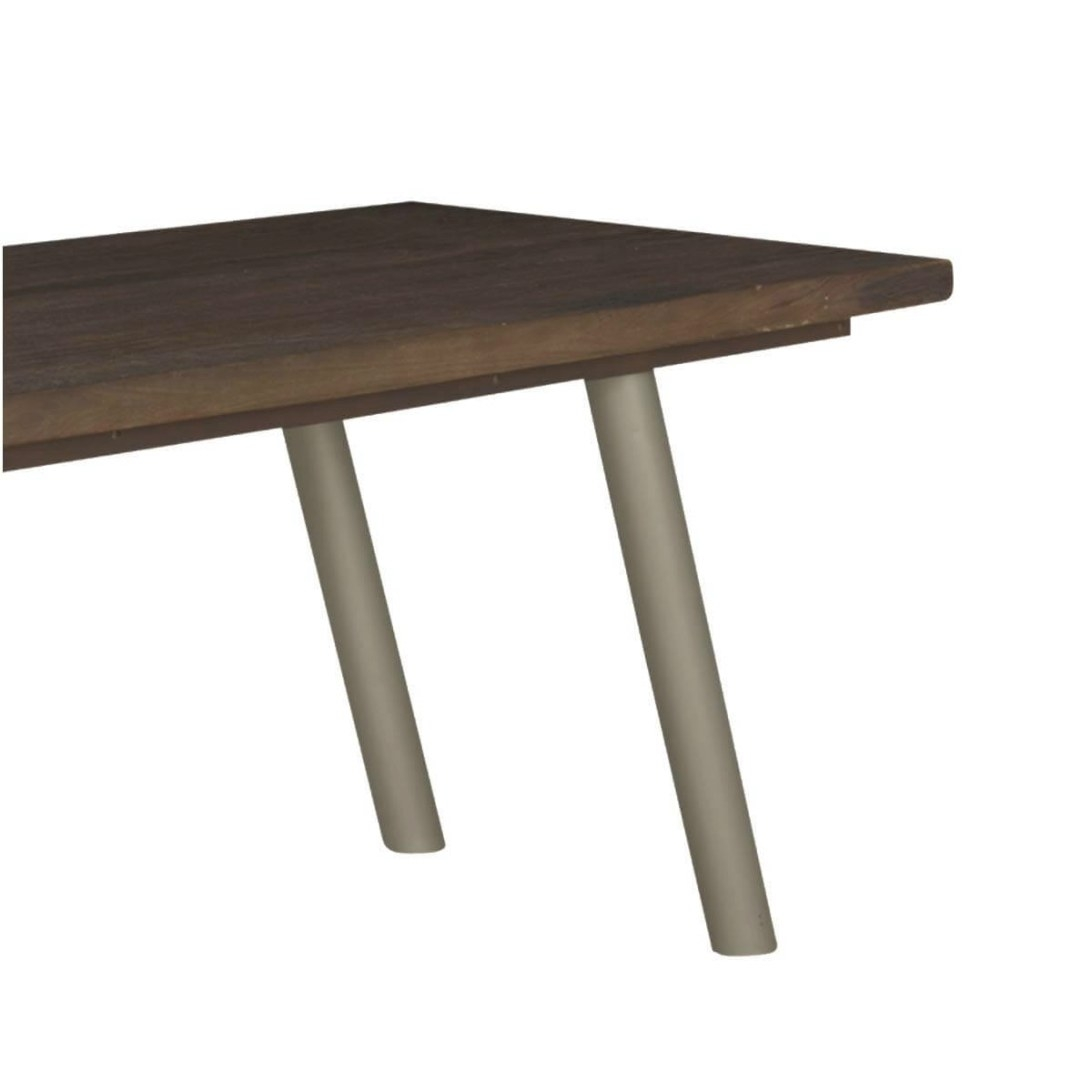 "Modern Frontier Mango Wood & Iron Rustic 63"" Dining Table inside Mango Wood Dining Table"