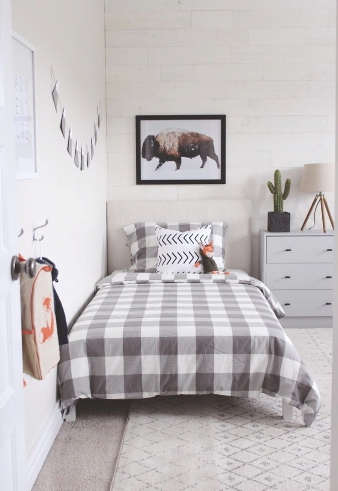 Modern Rustic Boys Bedroom- One Room Challenge The Reveal in Pictures Of Boys Bedrooms