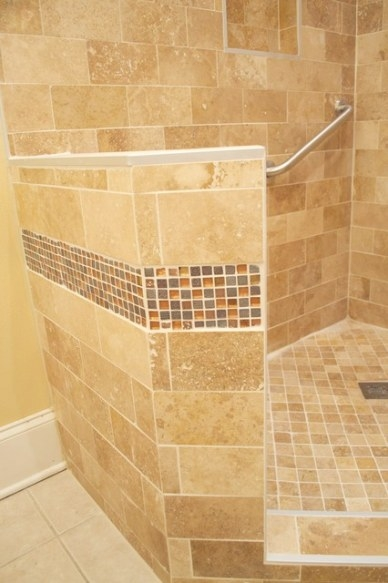 Modern Walk In Shower With Bench pertaining to Walk In Shower With Bench