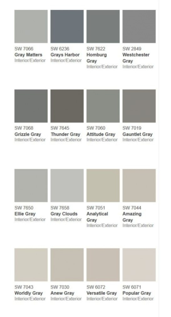 {More Than} 50 Shades Of Gray | Grey Paint Colors regarding Shades Of Grey Color