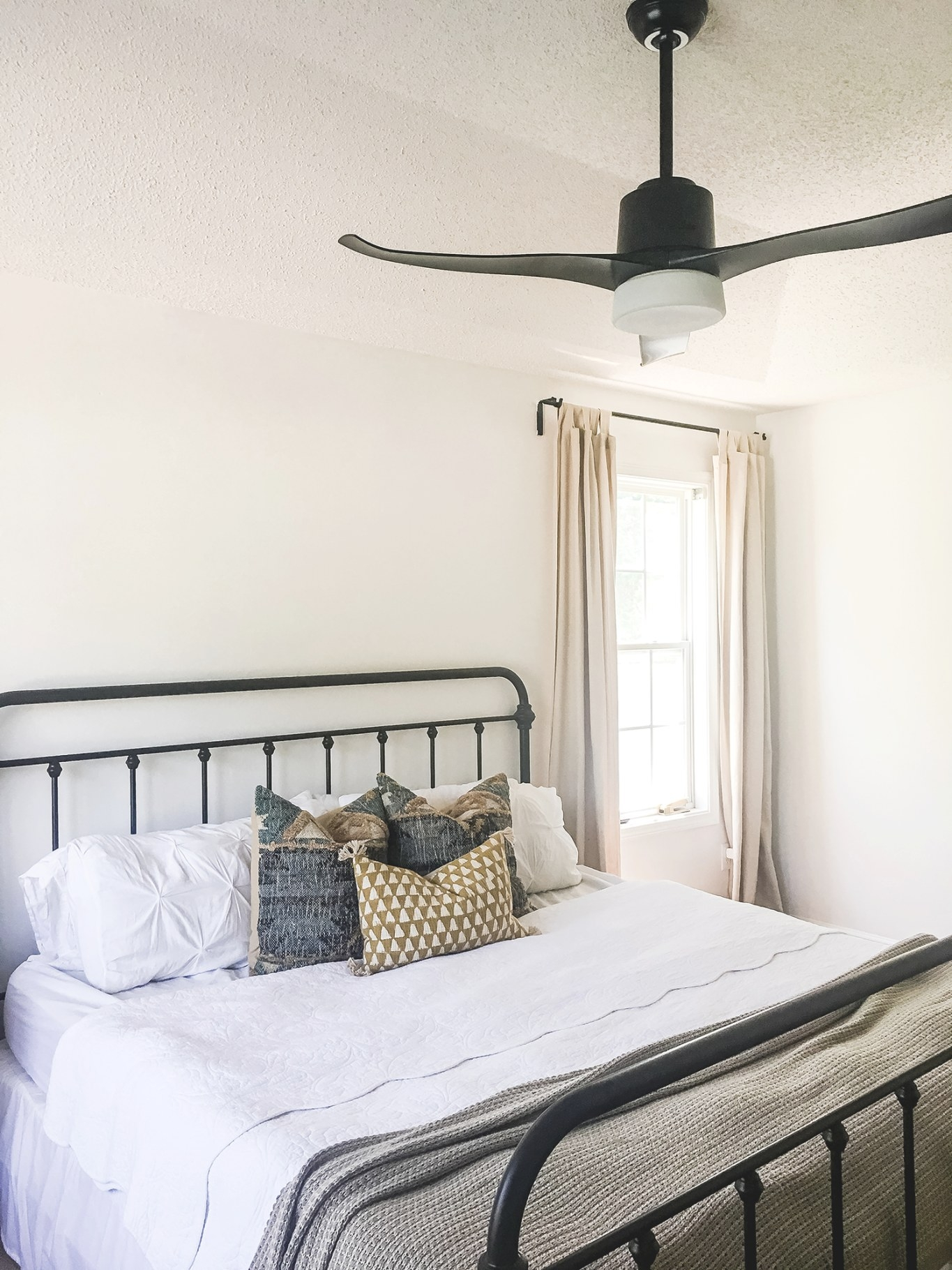 Morgan-Castle-Blogger-Bedroom-Makeover-With-Modern-Black throughout Ceiling Fan In Bedroom