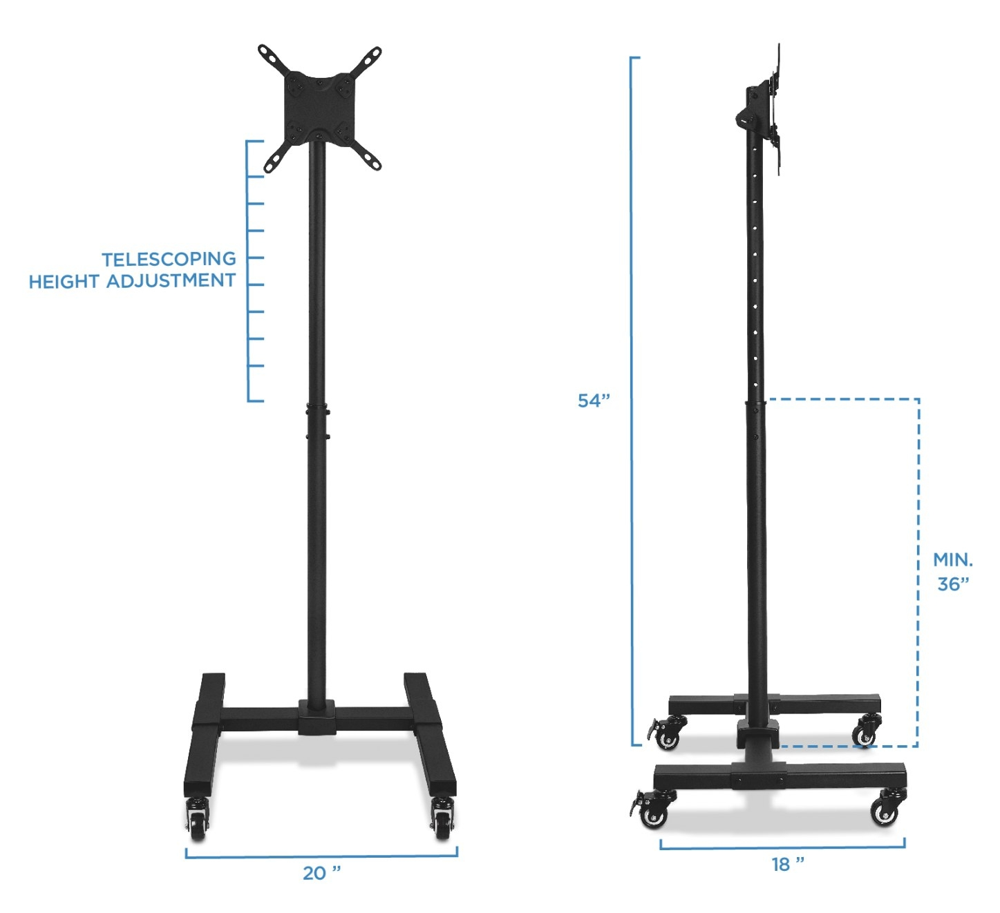 Mount-It: Mount-It! Mobile Tv Stand With Wheels pertaining to Tv Stand With Wheels