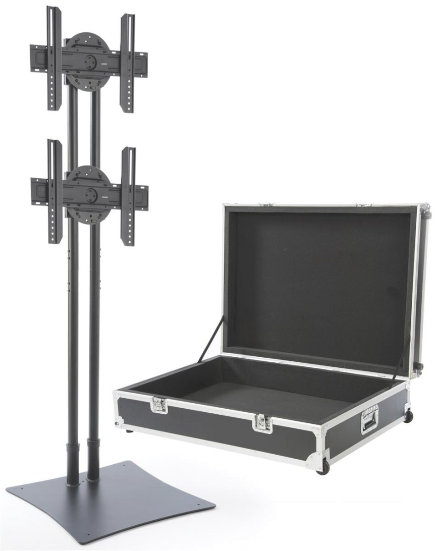 Multi Led Tv Stand | Large Travel Case On Wheels within Tv Stand On Wheels