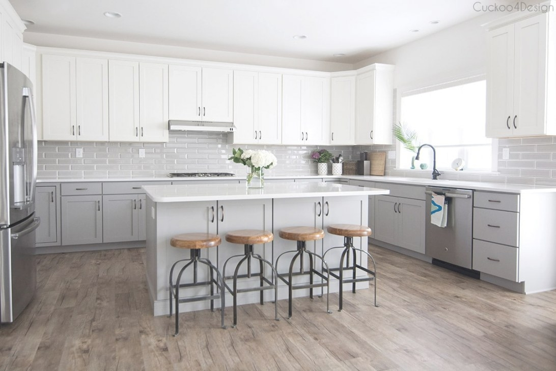 My Friends Gorgeous Gray And White Kitchen | Cuckoo4Design throughout White And Gray Kitchens