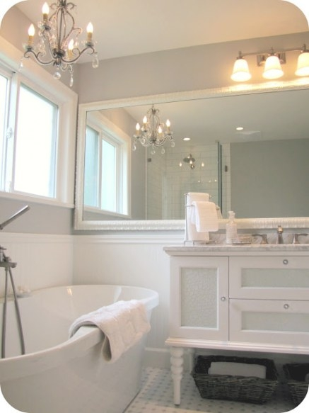 My House Of Giggles: White And Grey Bathroom Renovation in White And Grey Bathroom