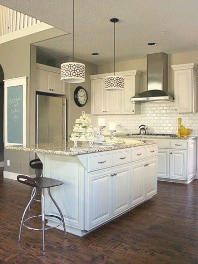My New Kitchen Will Look A Lot Like This. Distressed for White And Beige Kitchen