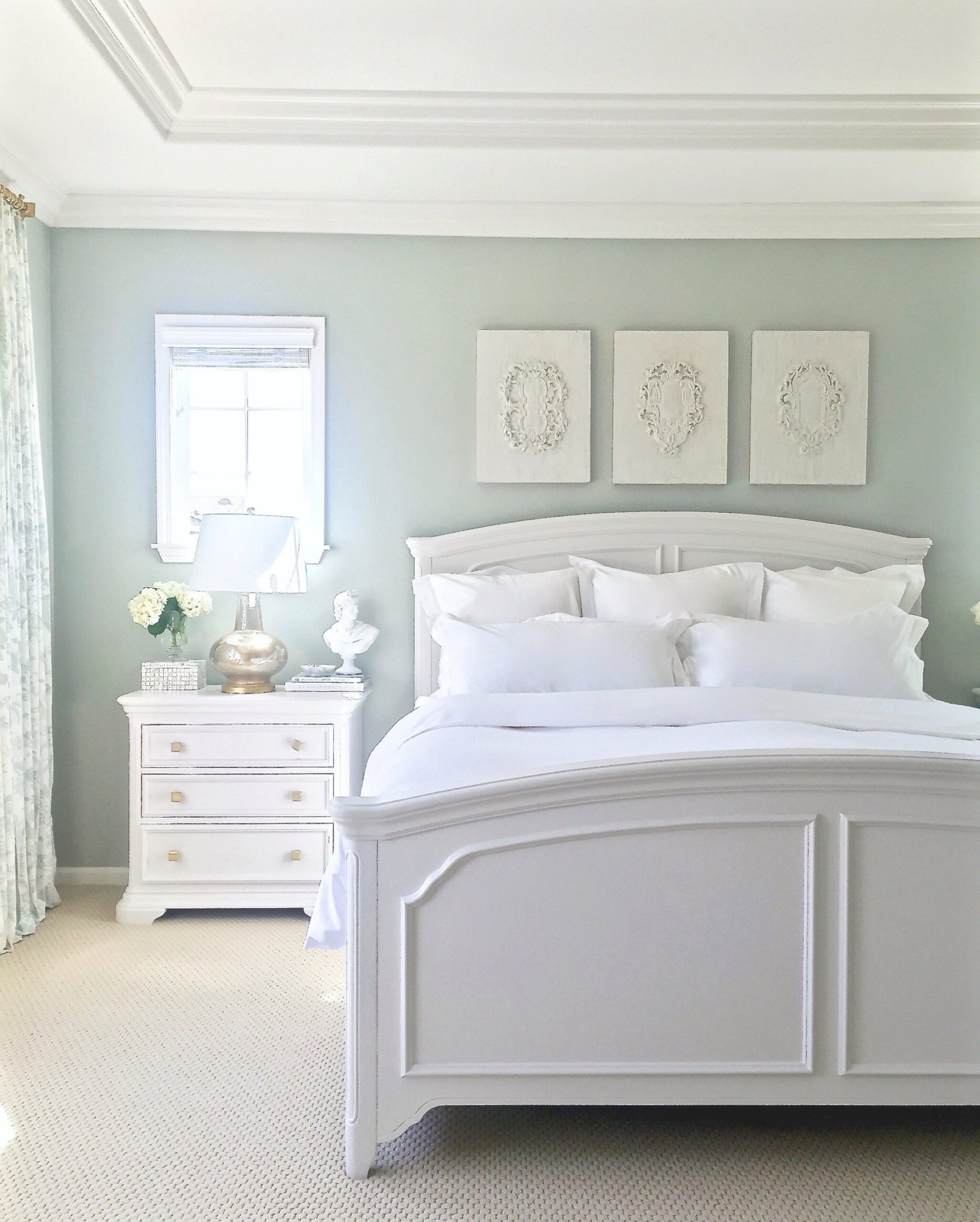 My New Summer White Bedding From Boll & Branch | White throughout What Color Should I Paint My Bedroom