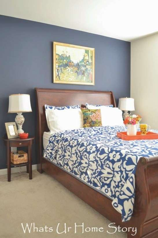 Navy And Coral Bedroom Decor | Coral Bedroom Decor, Coral in Navy And Coral Bedroom