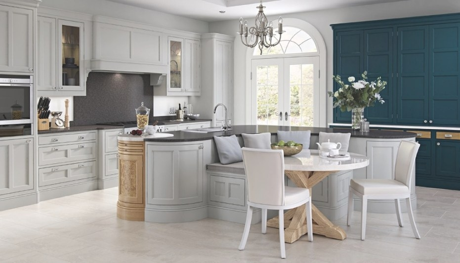 New Bespoke Kitchens Gallery throughout Blue And Grey Kitchen