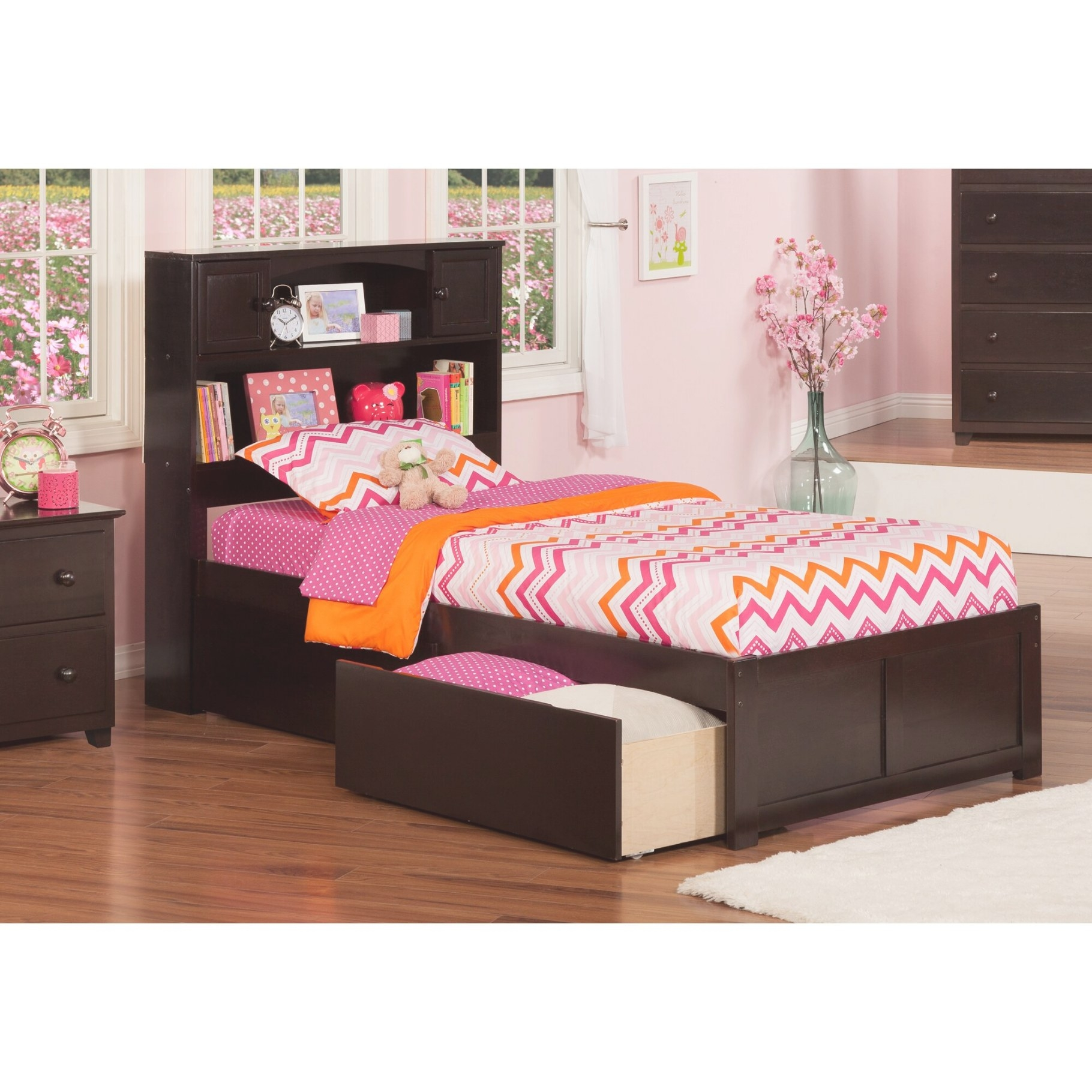 Newport Extra Long Twin Platform Bed With Storage | Wayfair within Extra Long Twin Bed