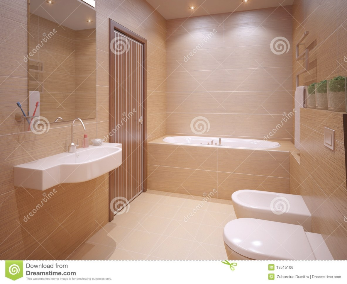 Nice Bathroom Stock Illustration. Image Of Toilet with Pictures Of Nice Bathrooms